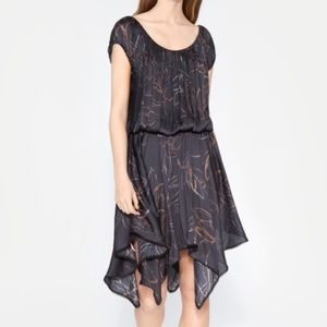 Halston Heritage Ruched Printed Dress